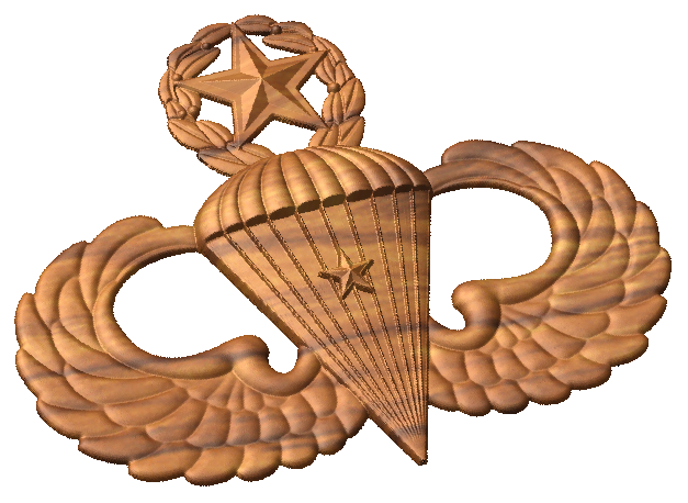 freeuse library Wings clipart jumpmaster. Master airborne with combat