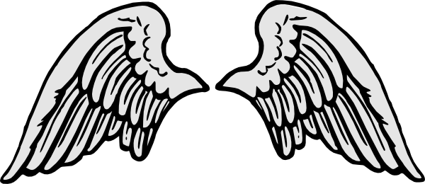 banner library Angel template physic minimalistics. Wing clipart