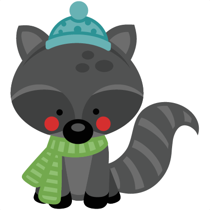 graphic black and white Boy raccoon svg scrapbook. Winter bear clipart