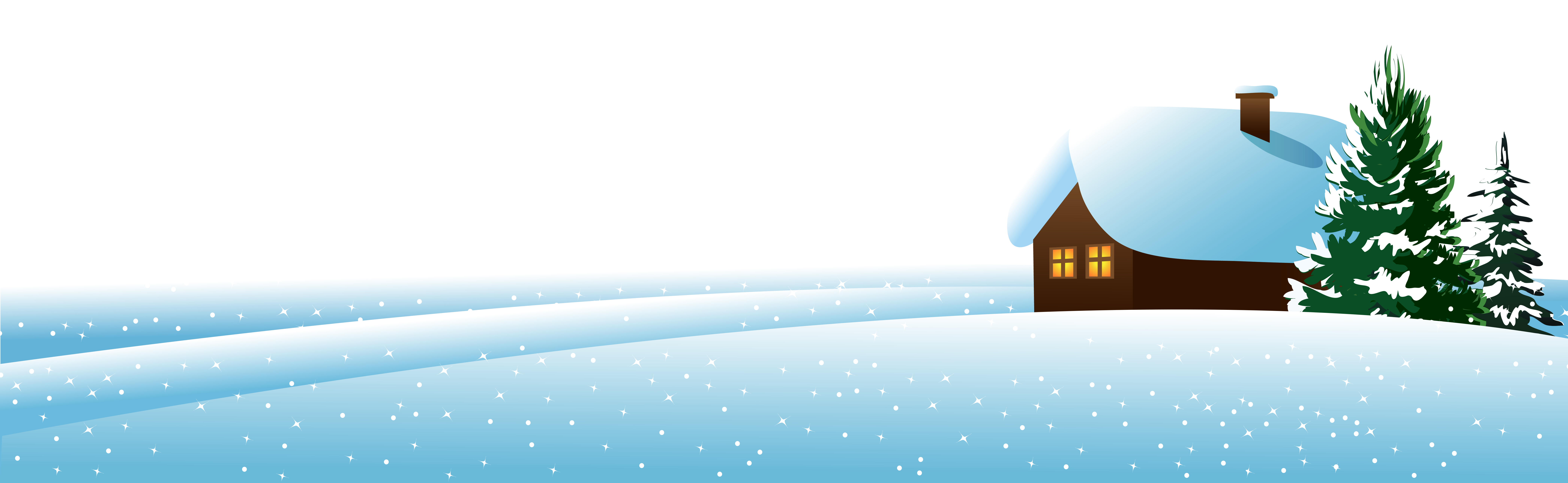 picture free House and rees ground. Winter clipart