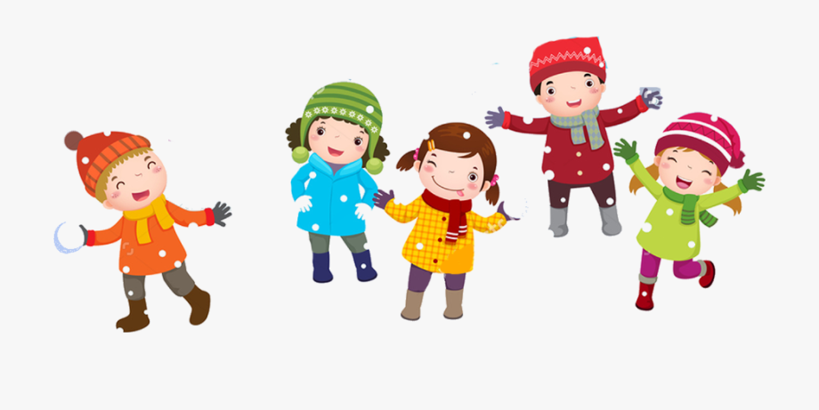 clipart black and white stock  collection of playing. Winter clipart for kids