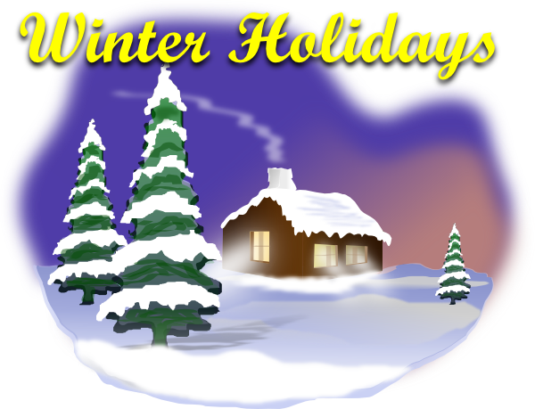 graphic black and white download Winter Holiday Clipart