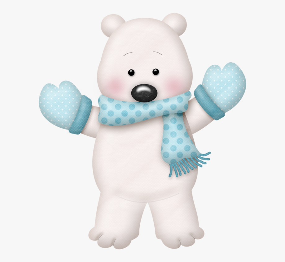 jpg stock Christmas clip art . Winter polar bear clipart