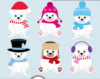 vector black and white Free cliparts download clip. Winter polar bear clipart