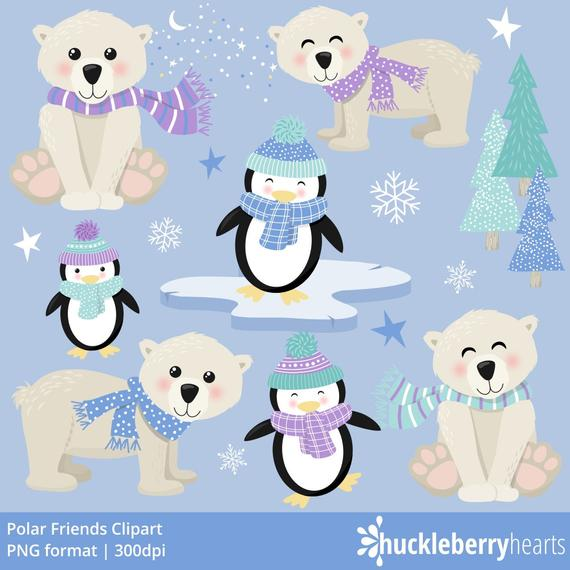 clipart freeuse stock Penguin clip art printable. Winter polar bear clipart