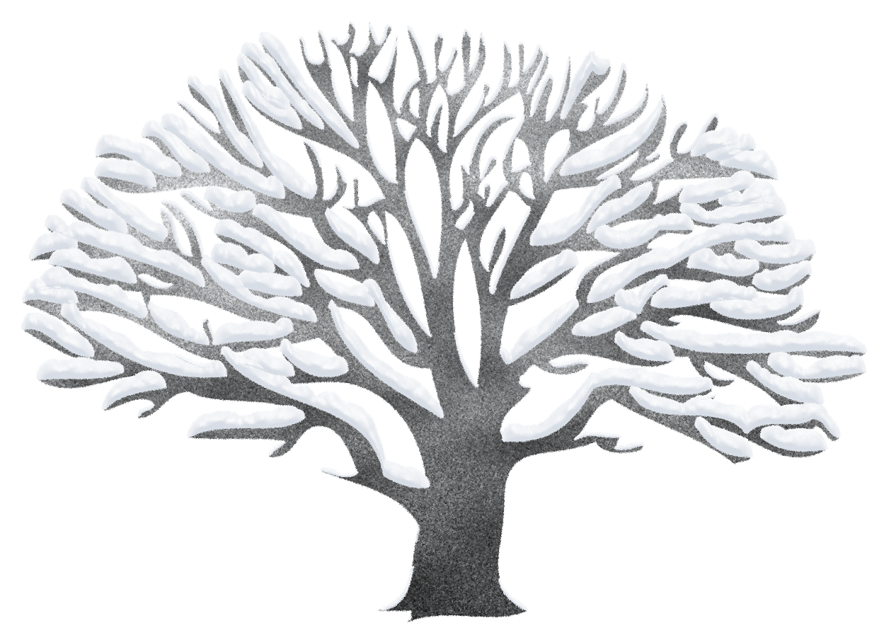 jpg black and white stock Winter Tree Ping Clipart