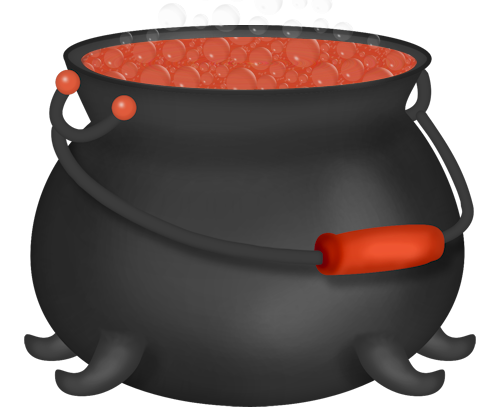 graphic download Halloween Orange Witch Cauldron Clipart