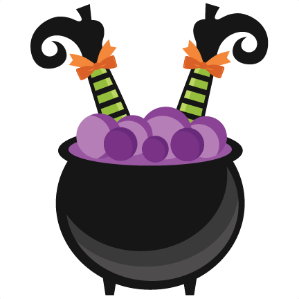 graphic black and white stock Witch in cauldron scrapbook. Bass svg halloween