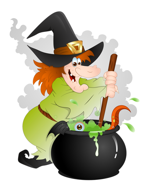 clip free library Witches clipart. Halloween witch with cauldron