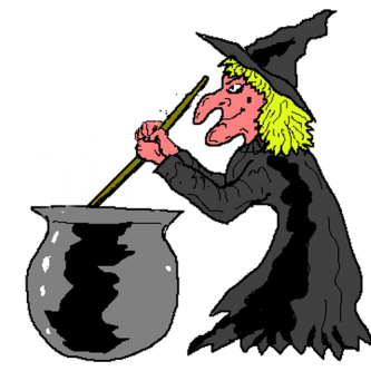 clipart free Witches clipart bowl. Witch with cauldron silhouette
