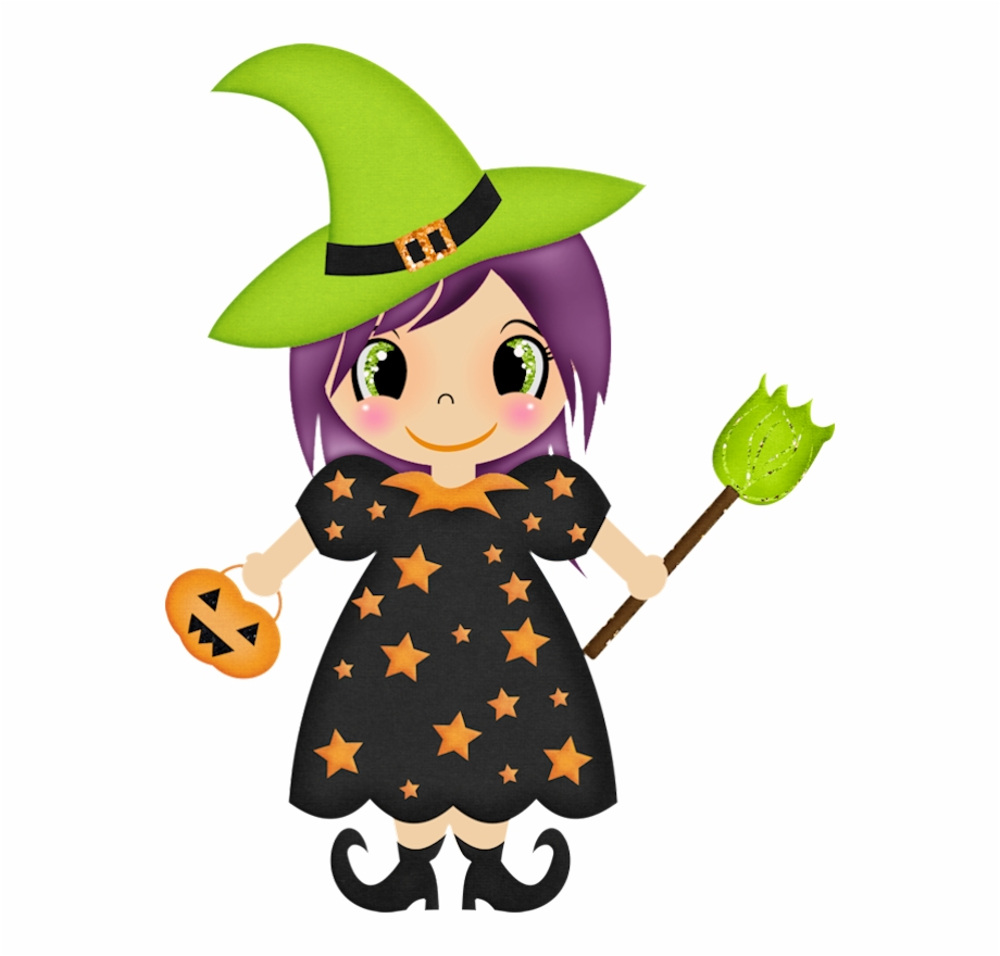 clipart freeuse stock Halloween cute clip art. Witch clipart.