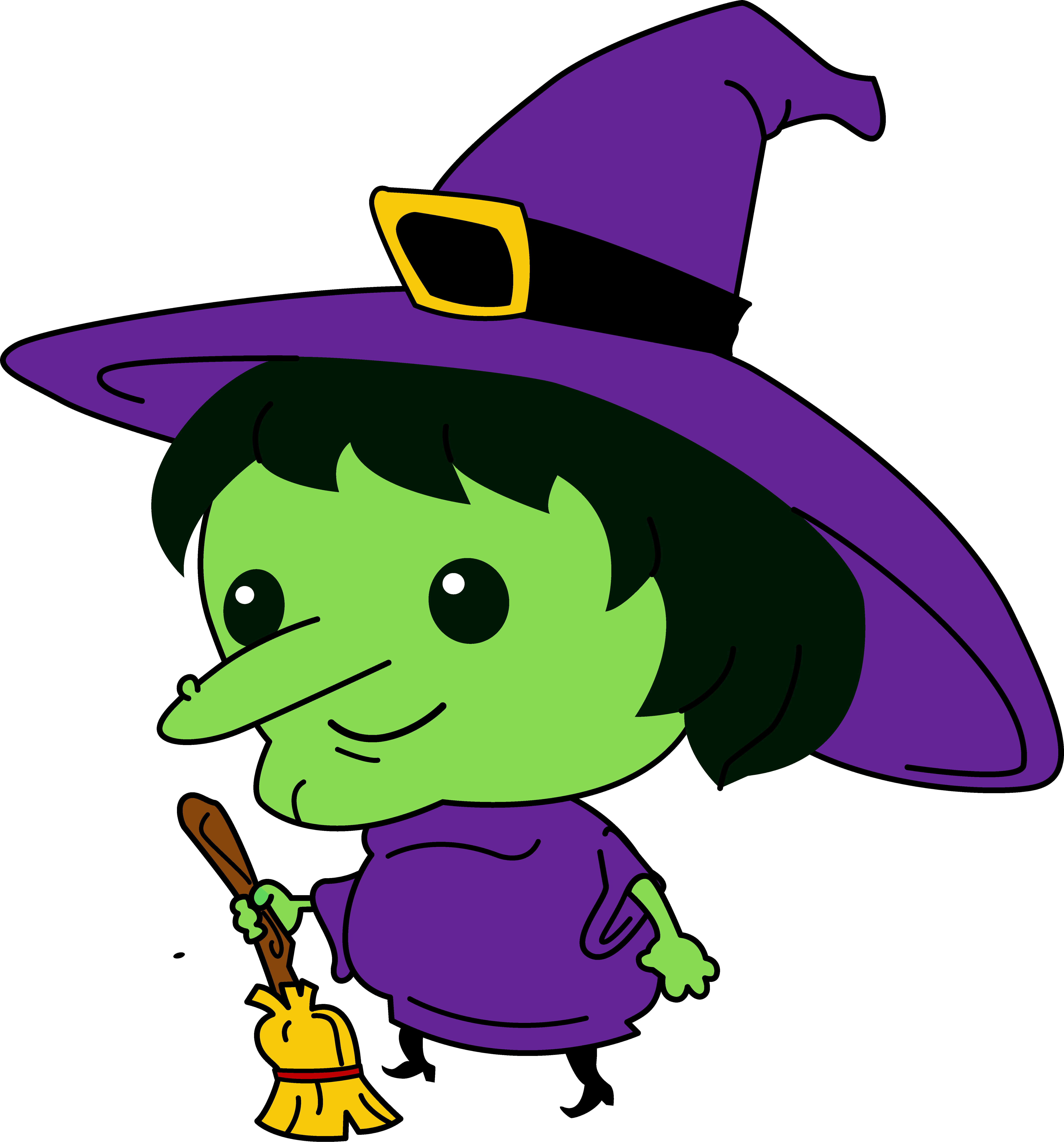 vector royalty free download Cute Witch Clipart