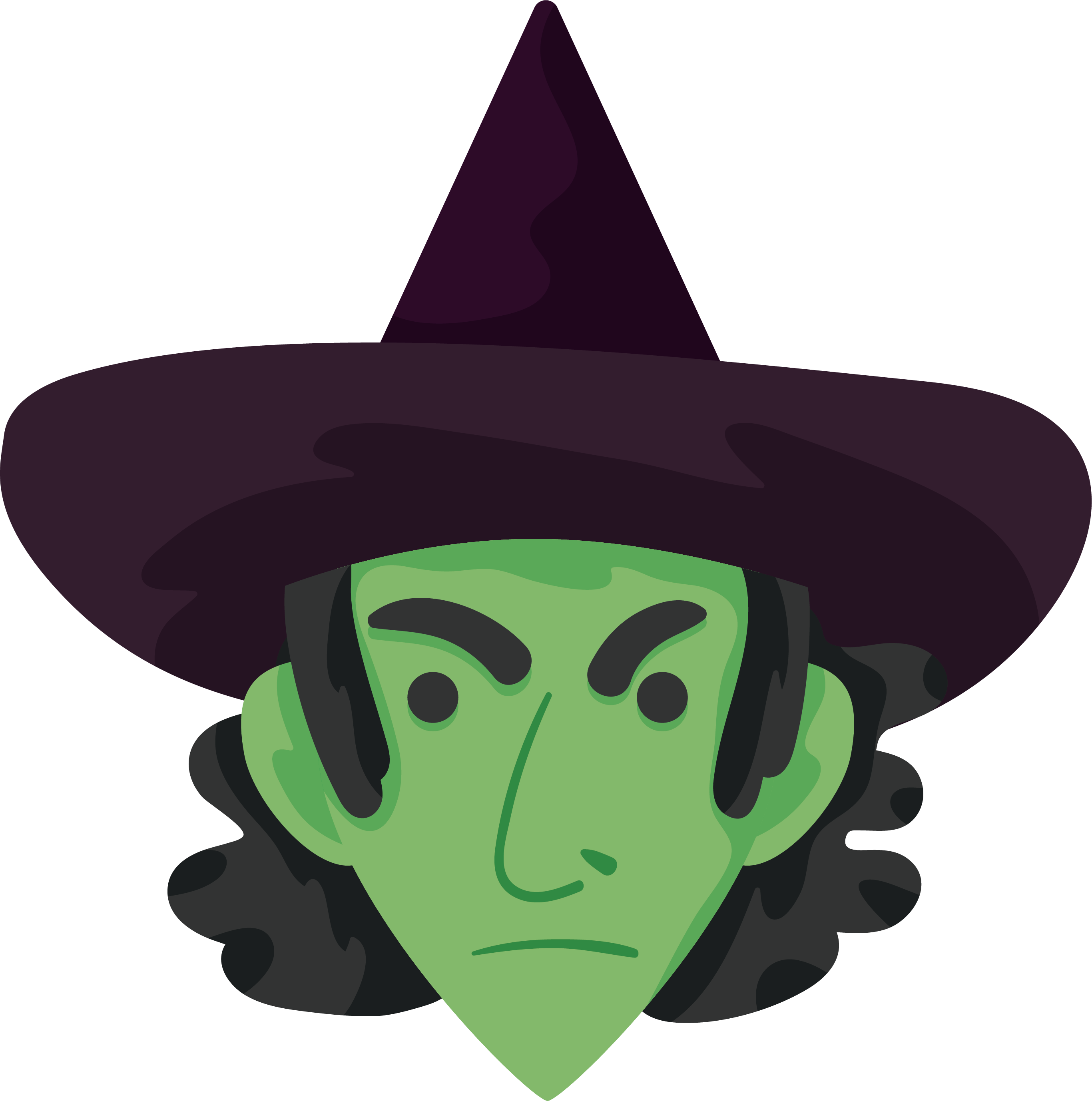 jpg free stock Witchcraft green witch free. Witches clipart bowl