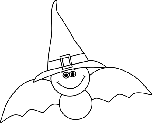 vector free download Witch hat clipart black and white.  collection of witches