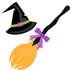 png transparent stock Witch Hat and Broom SVG scrapbook cut file cute clipart files for