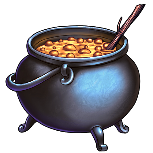 clipart royalty free Cauldron by ulfrheim on. Witches clipart bowl