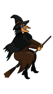 vector black and white download How to Draw a Witch