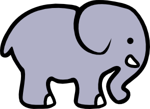 graphic transparent Cartoon Elephant