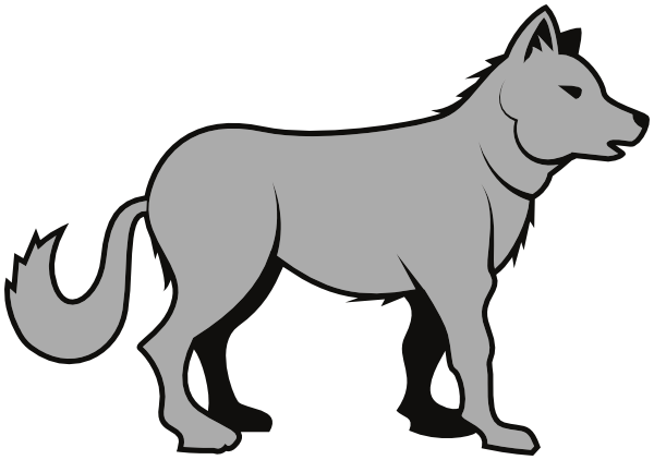 svg black and white library Free wolf cliparts download. Wolves clipart