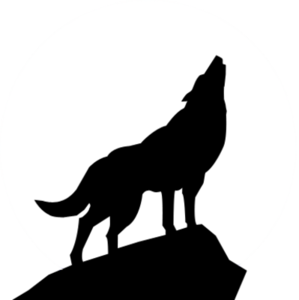 clip art transparent library Wolf silhouette psd free. Howling clipart cartoon.