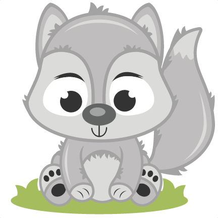 freeuse stock Wolf clipart cute. Baby clip art pinterest