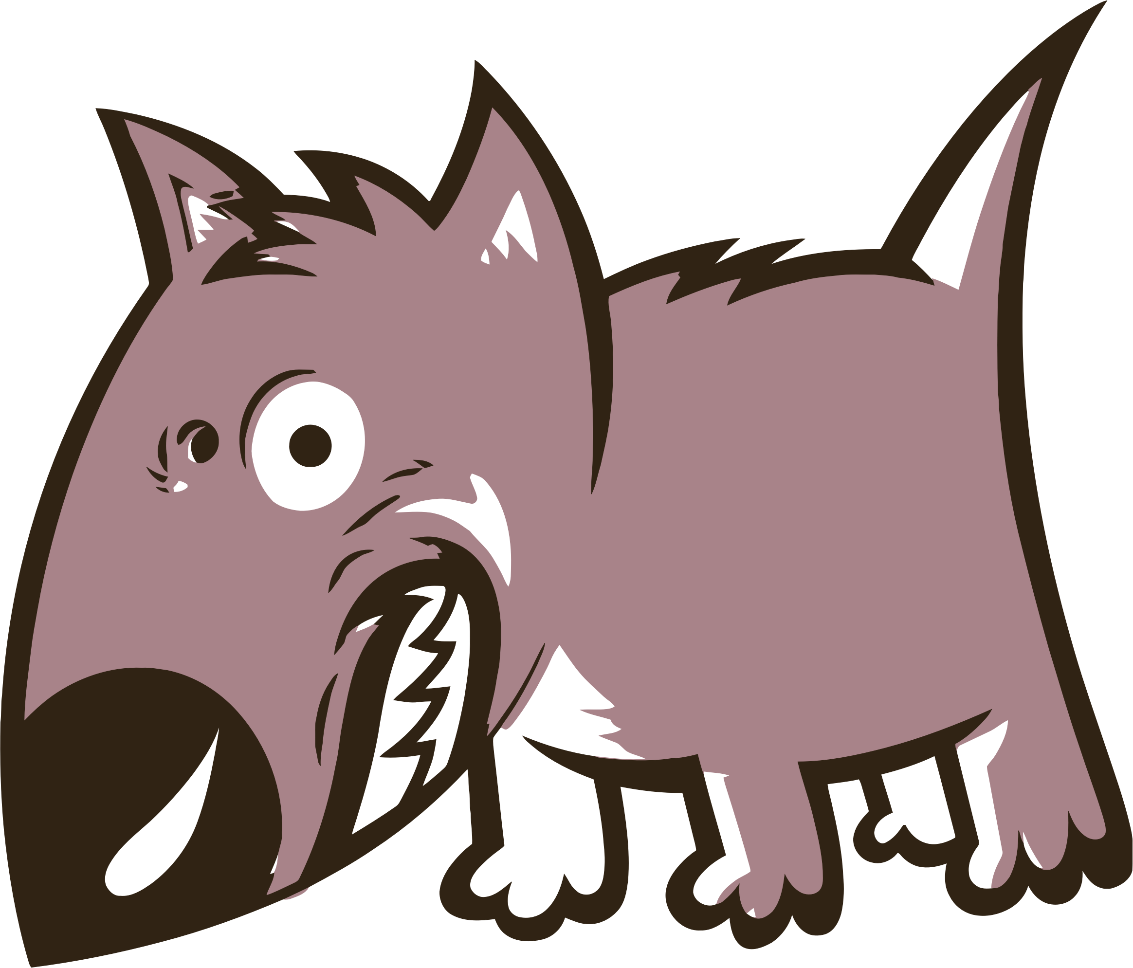 svg transparent stock Mean Wolf Clipart at GetDrawings