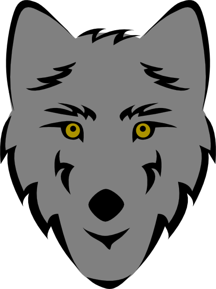 png black and white Wolfman drawing easy. Werewolf clipart simple cute