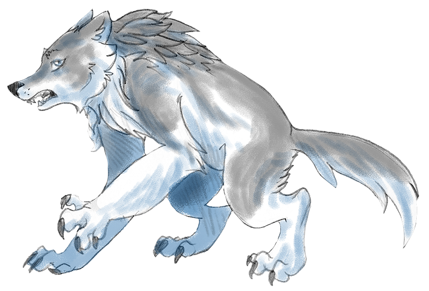 graphic library library Wolfman drawing fantasy. Skyclan character sketch by