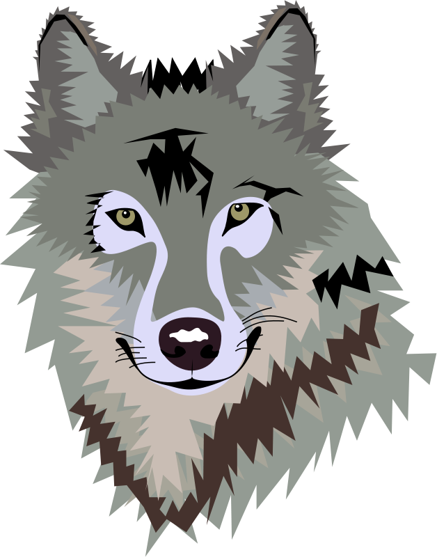 clip art freeuse stock Mountains clipart wolf. Face to draw up.
