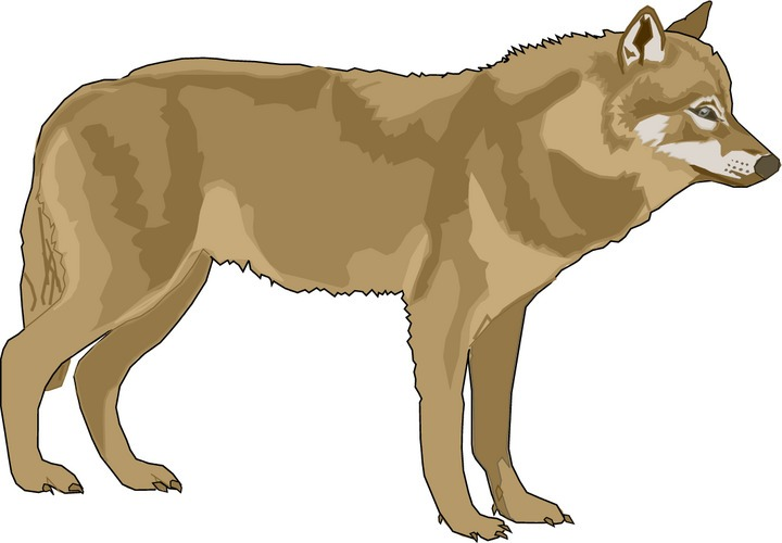 svg black and white library Wolves clipart. Free wolf cliparts download
