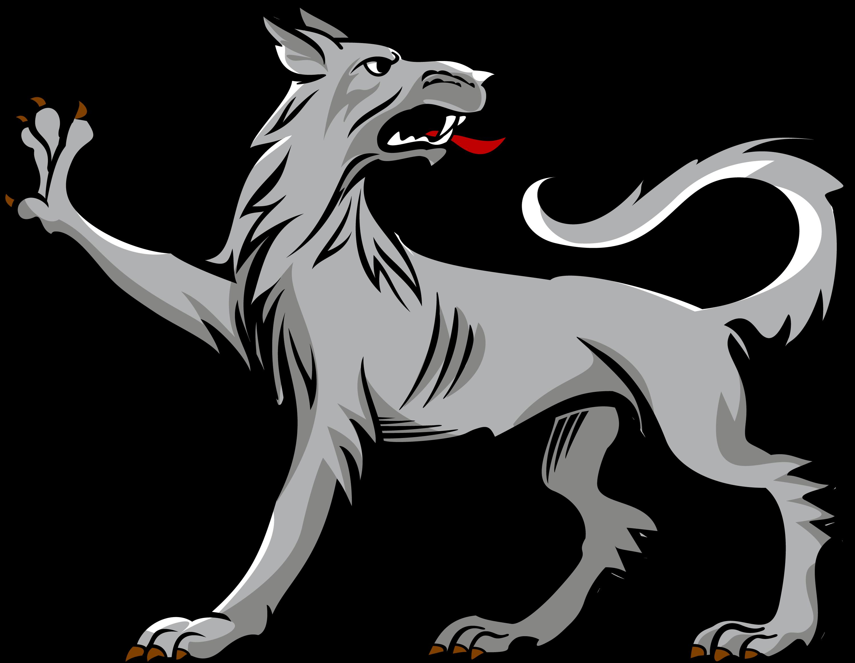 picture transparent download Vector crest wolf. Passant regardant heraldica pinterest