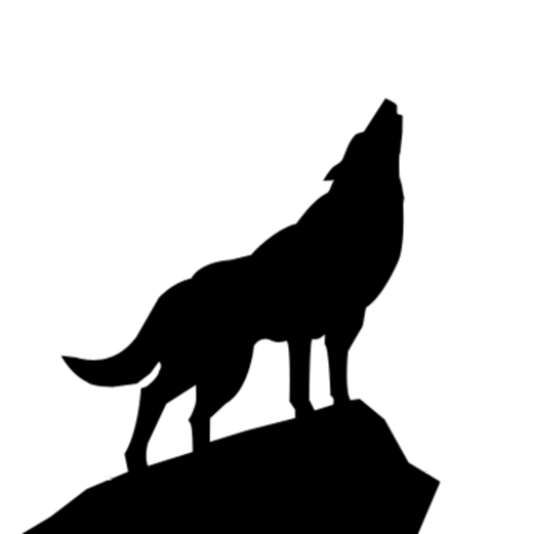 image black and white stock Free clip art wolves. Drawing silhouette wolf