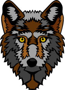 graphic royalty free download Stylized Wolf Head Clip Art at Clker