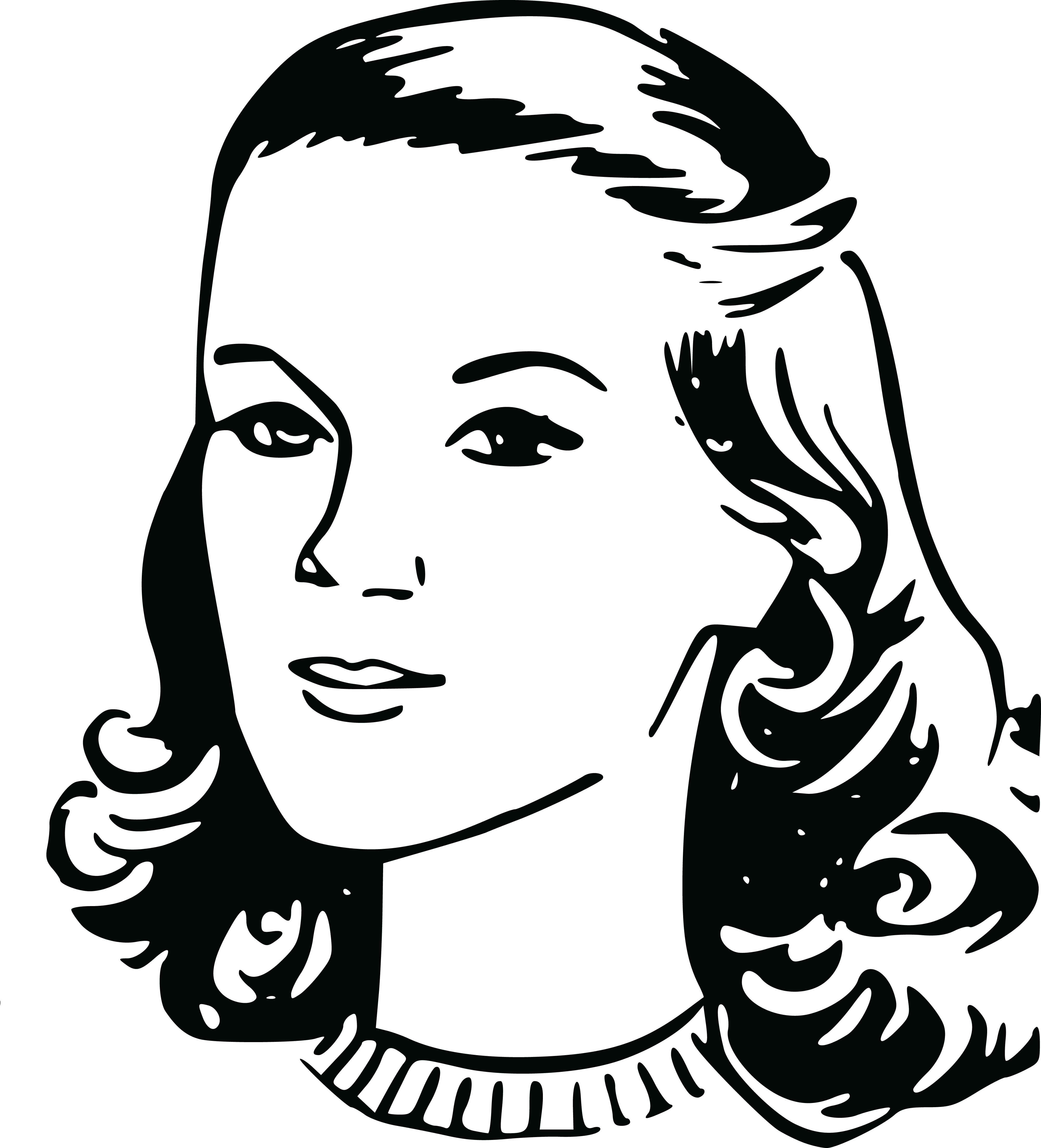 jpg freeuse download  collection of lady. Black and white quilt clipart