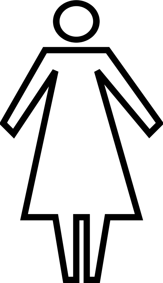 graphic free stock Woman Clipart Black And White