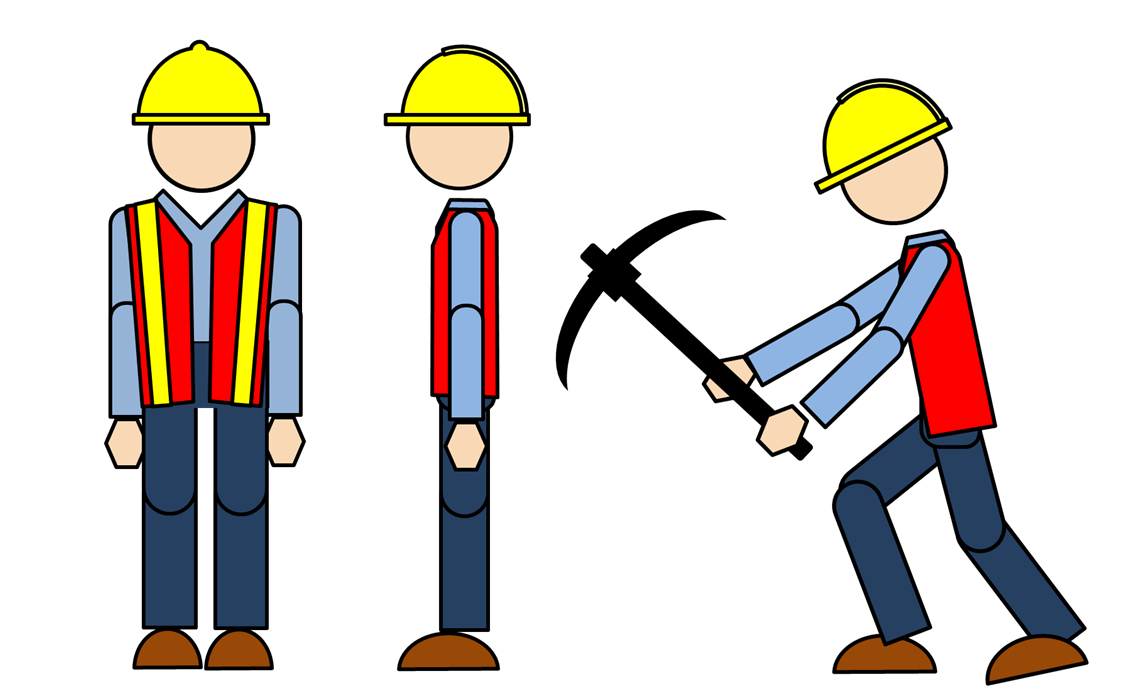 library Female Construction Worker Clipart