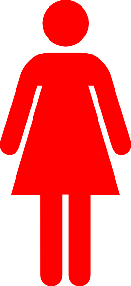 vector royalty free download Red Woman Clip Art at Clker