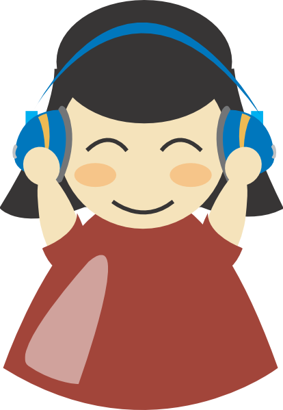 vector library download Girl With Headphones Clip Art at Clker