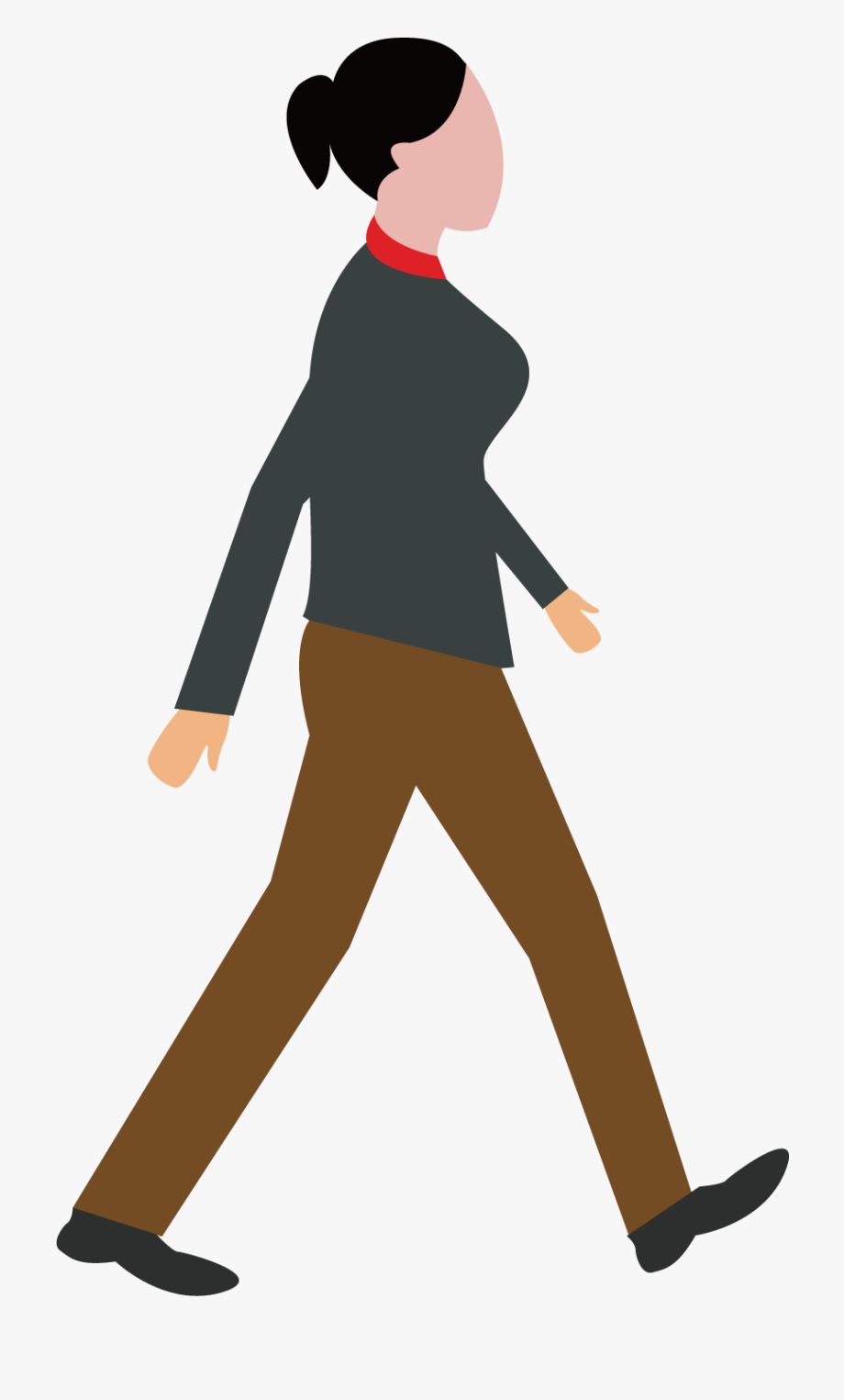graphic download Woman walking clipart. Female cartoon png