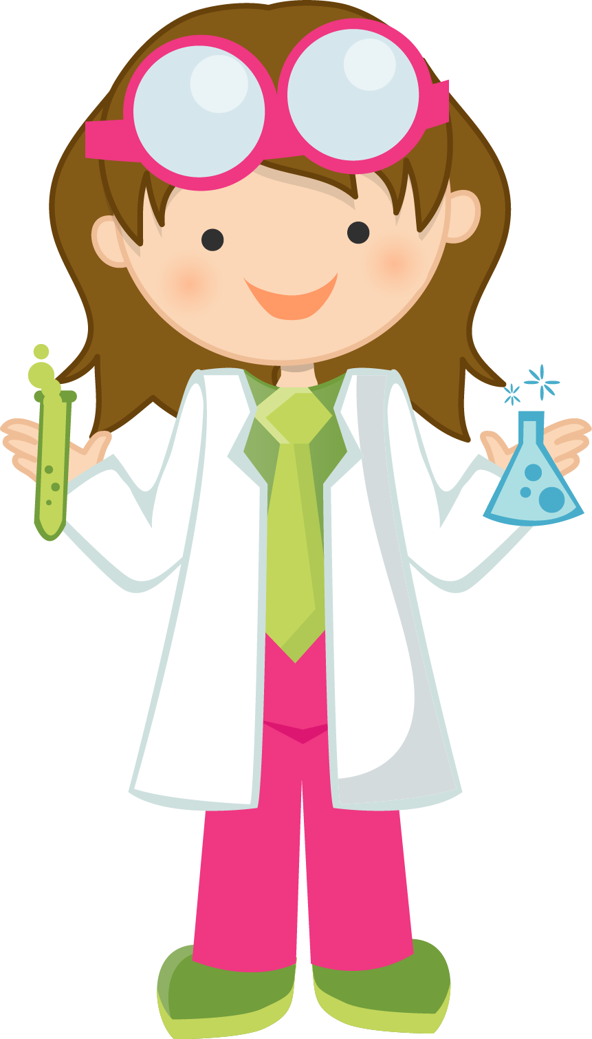 clipart black and white Women mad scientist pencil. Science kids clipart
