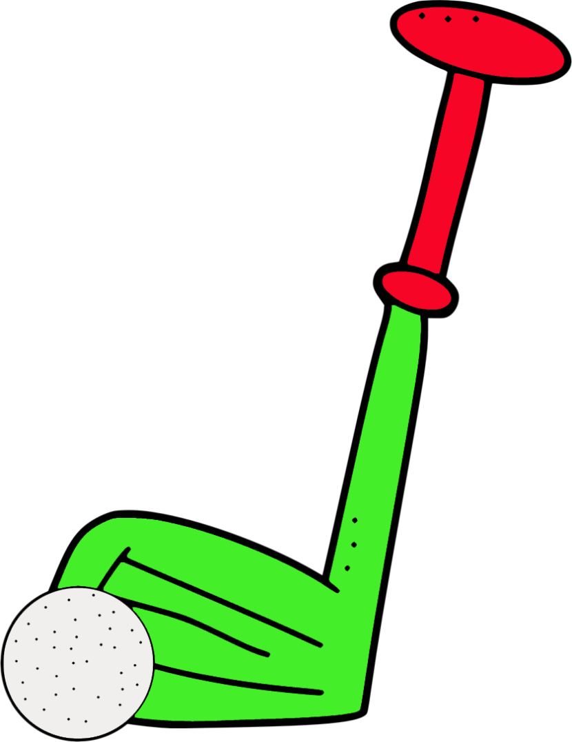 svg royalty free stock Golf Clip Group