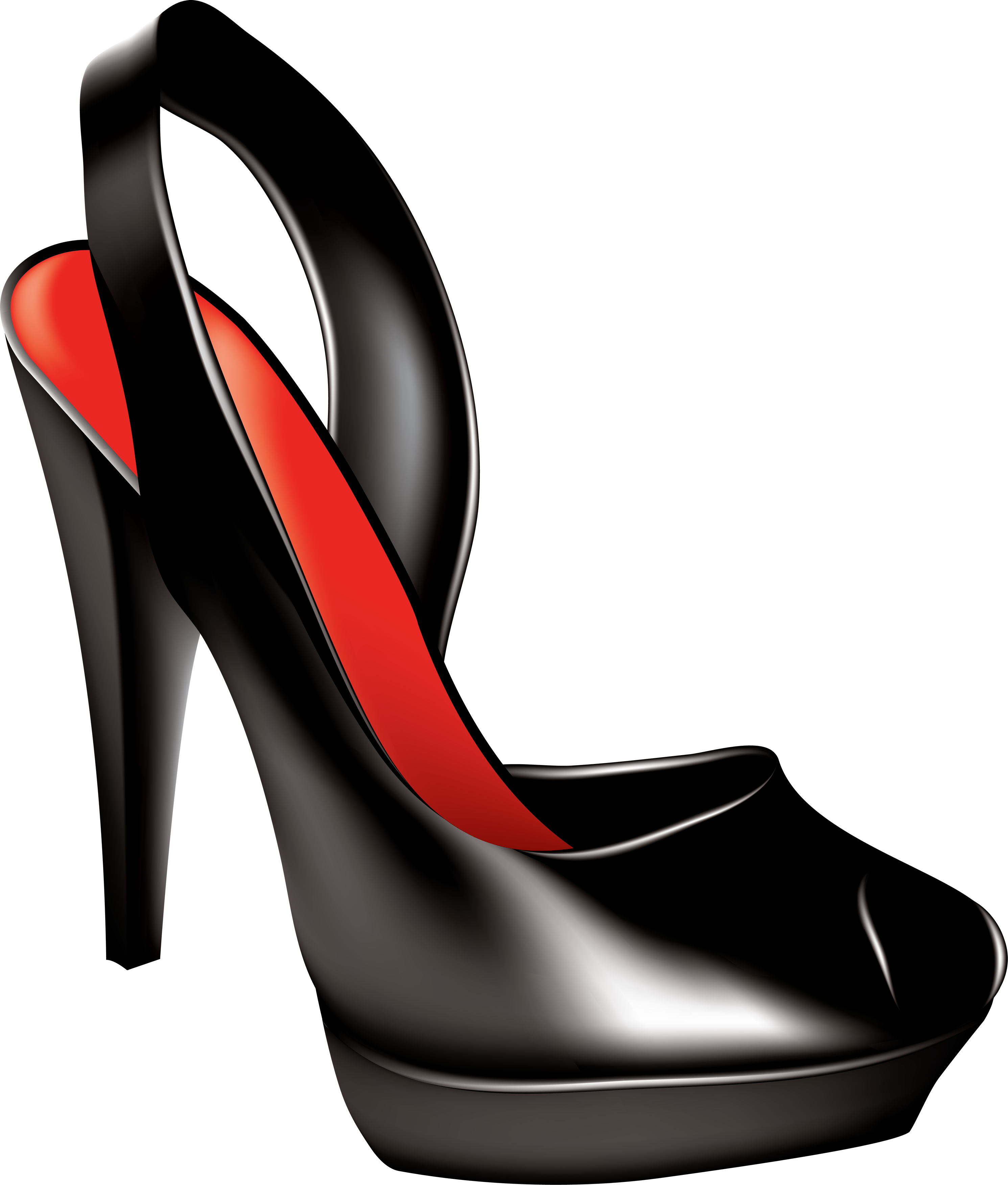 clip art library library Black women shoe png. Womens shoes clipart