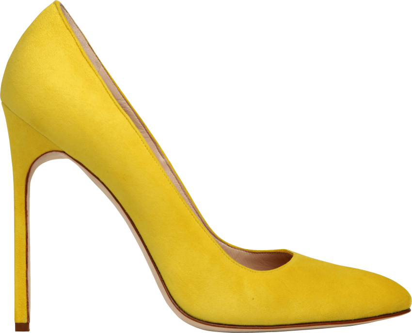 banner transparent stock Womens shoes clipart. Yellow women shoe png