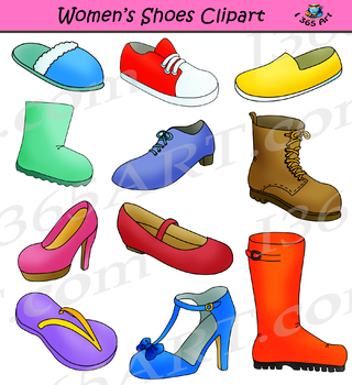 clip art royalty free Footwear set . Womens shoes clipart
