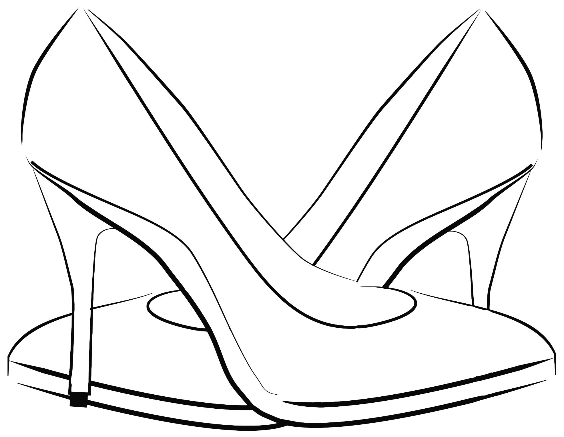 vector black and white stock  women clipartlook. Womens shoes clipart