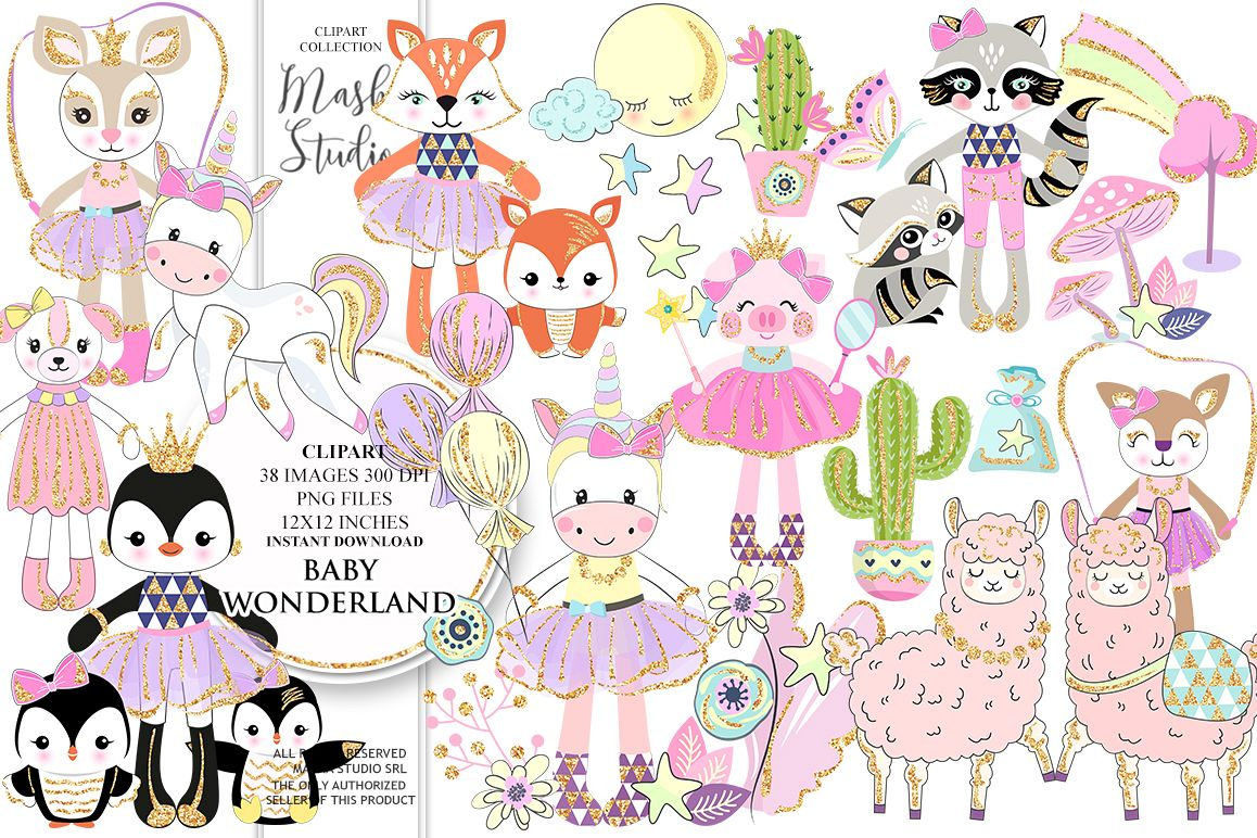 graphic library library . Wonderland clipart baby