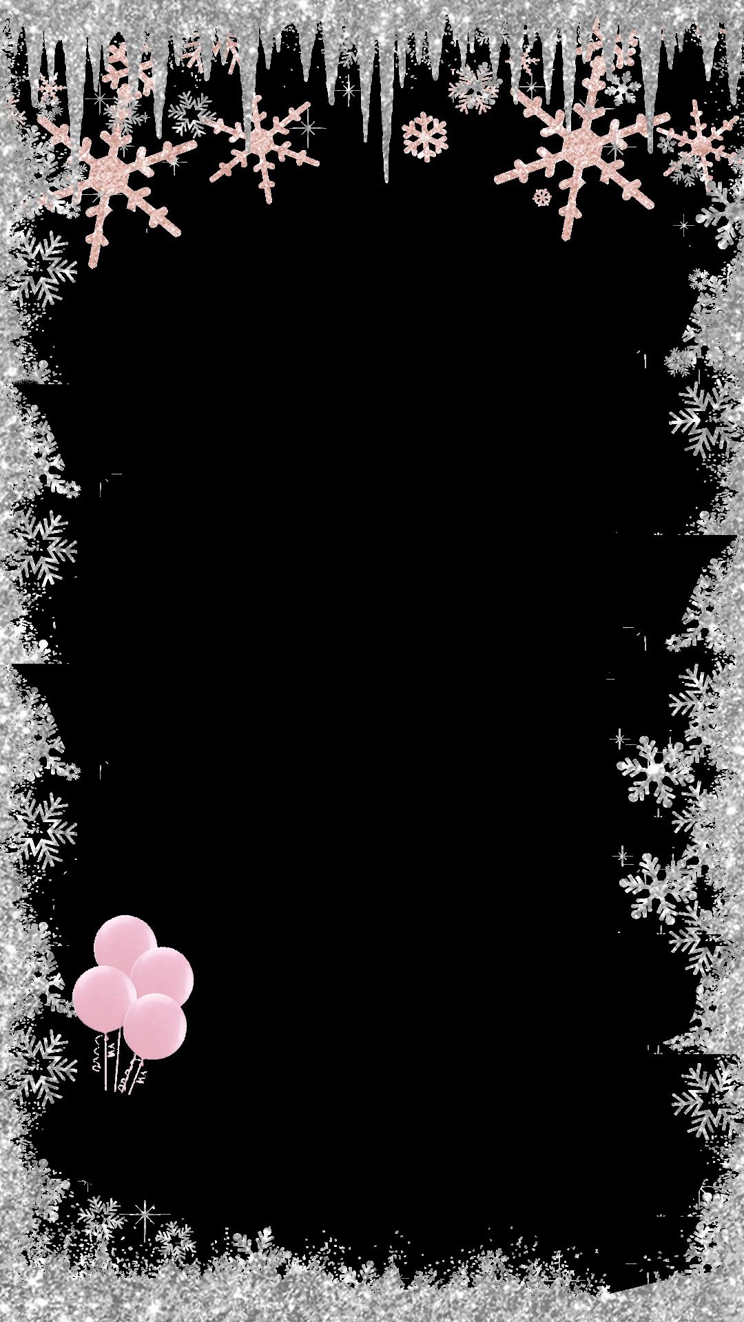 jpg Winter snapchat filter clip. Wonderland clipart border.