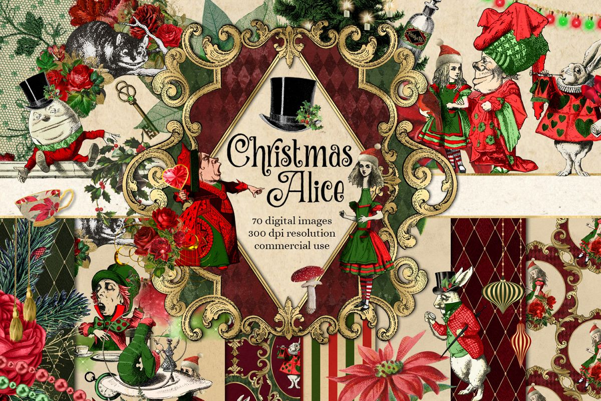clip transparent stock Wonderland clipart christmas. Alice in .