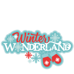 royalty free download Wonderland clipart christmas. Winter title svg scrapbook.