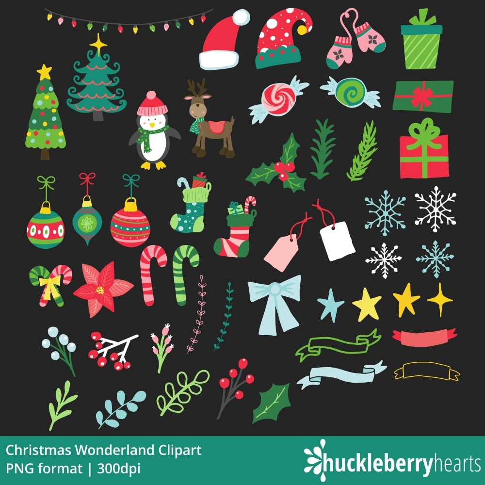 image freeuse library Bundle . Wonderland clipart christmas